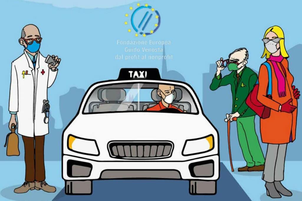 iniziativa taxi solidale a Milano