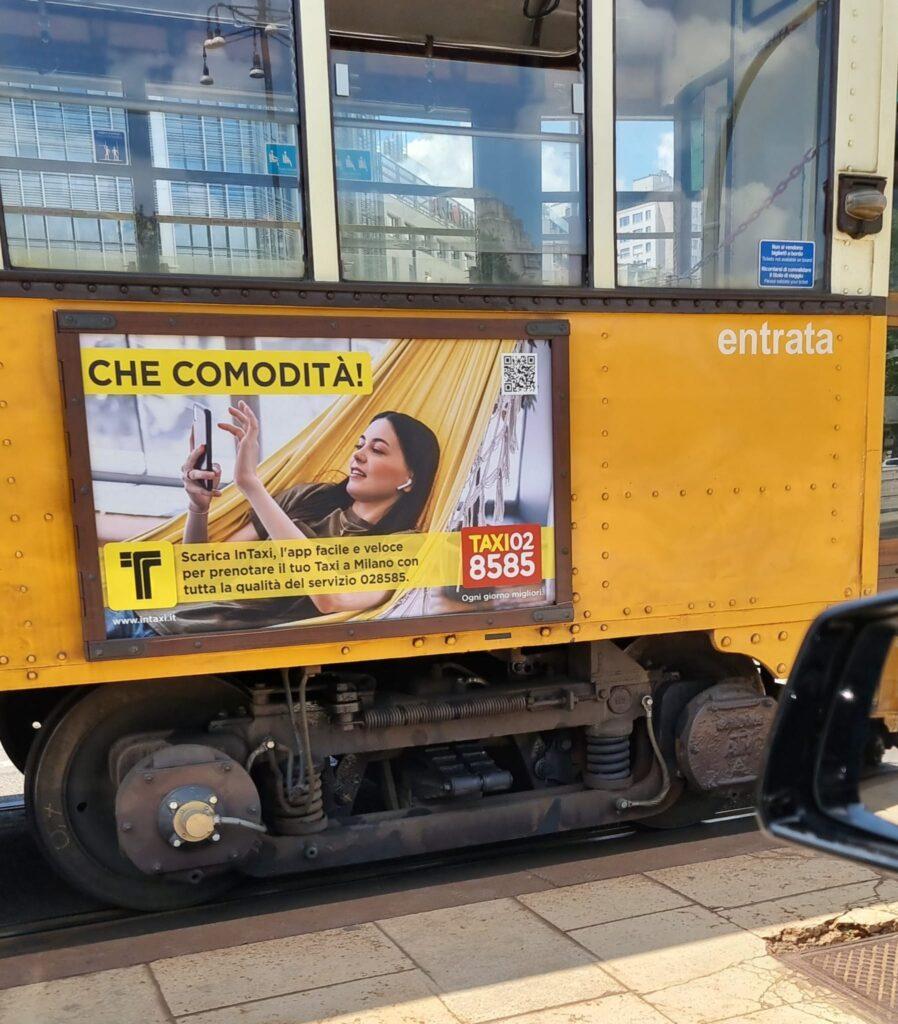 pubblicità taxi a milano - pubblicità itinerante 028585